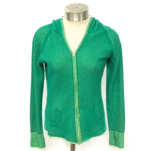 TITLE NINE Green Zip Up Hooded Sweater Size XS